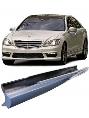 Boční prahy pro Mercedes Benz S Long (ozn. W221) ve stylu AMG